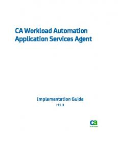 CA Workload Automation Application Services Agent