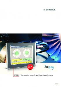 CAB 920 The measuring system for peak balancing performance