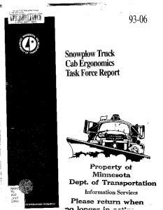 Cab Ergonomics Task Force Report