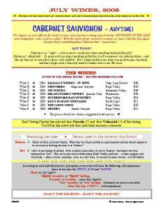 CABERNET SAUVIGNON ANYTIME!