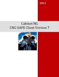 Cabinet NG CNG-SAFE Client Version 7