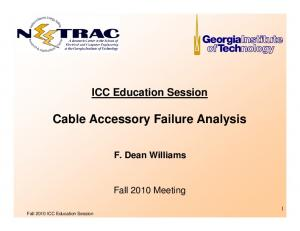 Cable Accessory Failure Analysis