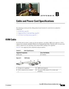 Cable and Power Cord Specifications