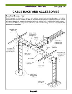 CABLE RACK AND ACCESSORIES