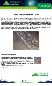 Cable Tray Installation Guide