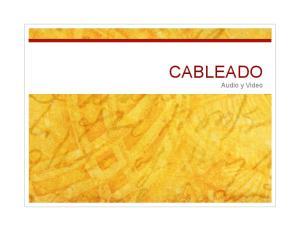 CABLEADO Audio y Video