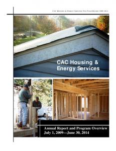 CAC HOUSING & ENERGY SERVICES FIVE YEAR REVIEW CAC Housing & Energy Services