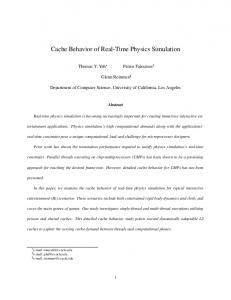 Cache Behavior of Real-Time Physics Simulation