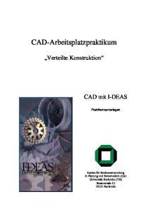 CAD-Arbeitsplatzpraktikum