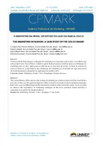 Caderno Profissional de Marketing - UNIMEP