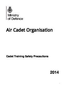 Cadet Training Safety Precautions