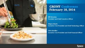 CAGNY Conference February 18, 2014