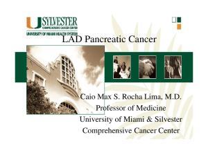 Caio Max S. Rocha Lima, M.D. University of Miami & Silvester Comprehensive Cancer Center