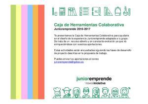 Caja de Herramientas Colaborativa Junioremprende