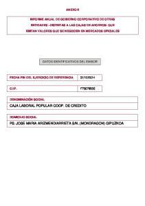 CAJA LABORAL POPULAR COOP. DE CREDITO