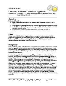 Calcium Carbonate Content of Eggshells
