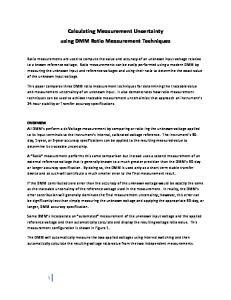 Calculating Measurement Uncertainty using DMM Ratio Measurement Techniques