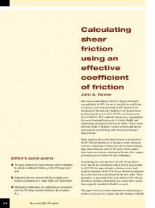 Calculating shear friction using an effective coefficient of friction