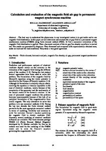 Calculation and evaluation of the magnetic field air gap in permanent magnet synchronous machine