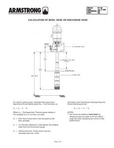 CALCULATION OF BOWL HEAD OR DISCHARGE HEAD