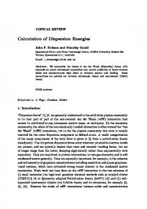 Calculation of Dispersion Energies