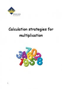 Calculation strategies for multiplication