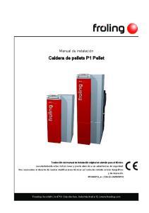 Caldera de pellets P1 Pellet