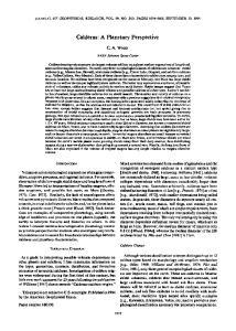 Calderas' A Planetary Perspective