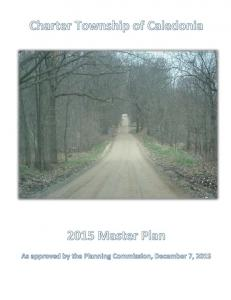 Caledonia Charter Township Master Plan