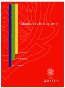 Calendario de de Eventos 2016