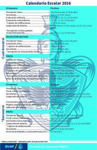 Calendario Escolar 2016