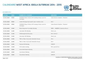 CALENDARIO WEST AFRICA: EBOLA OUTBREAK