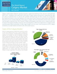 Calgary Market. State of the Calgary Market. The Retail Report