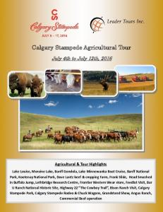 Calgary Stampede Agricultural Tour
