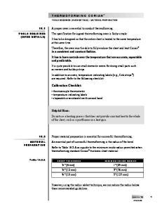 Calibration Checklist: