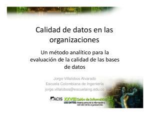 Calidad de datos en las organizaciones