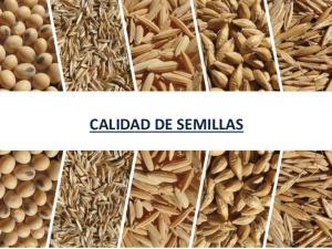 CALIDAD DE SEMILLAS. Laboratorio de Calidad de Semillas