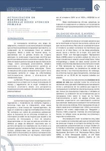 CALIDAD DE VIDA EN EL CLIMATERIO. MEDICION DE LA CALIDAD DE VIDA INTRODUCCION PRESENTACION CLINICA