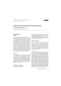 Calidad de vida en los pacientes con pirosis funcional