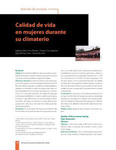 Calidad de vida en mujeres durante su climaterio