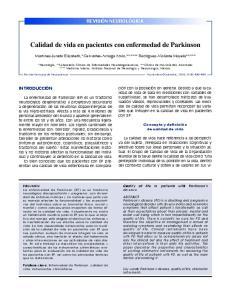 Calidad de vida en pacientes con enfermedad de Parkinson