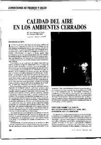 CALIDAD DEL AIRE EN LOS AMBIENTES CERRADOS