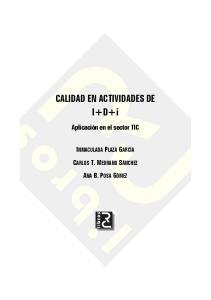 CALIDAD EN ACTIVIDADES DE I+D+i