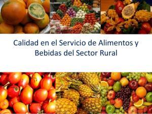 Calidad en el Servicio de Alimentos y Bebidas del Sector Rural