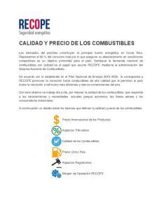 CALIDAD Y PRECIO DE LOS COMBUSTIBLES