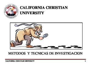 CALIFORNIA CHRISTIAN UNIVERSITY