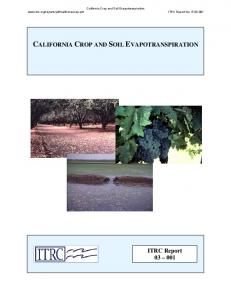 CALIFORNIA CROP AND SOIL EVAPOTRANSPIRATION