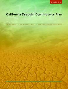 California Drought Contingency Plan