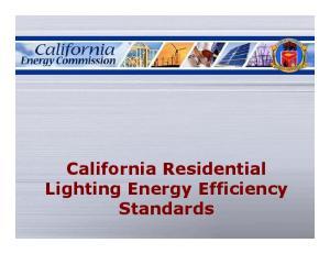 California Residential Lighting Energy Efficiency Standards