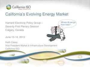 California s Evolving Energy Market